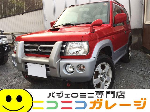 【ご成約】三菱 パジェロミニ 660VR 4WD 後期型 5速MT グリルガード