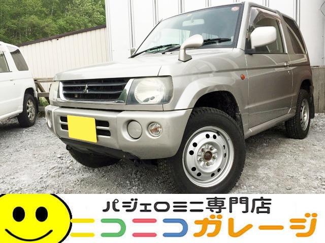 【ご成約】三菱 パジェロミニ660 X 4WD マニュアル5速 前期 検29/10 (シルバー)
